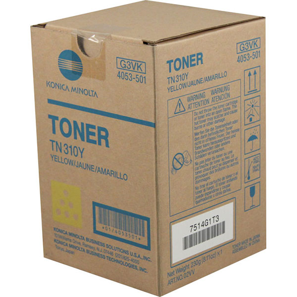 Konica Minolta 4053-501 (TN-310Y) Yellow OEM Copier Toner