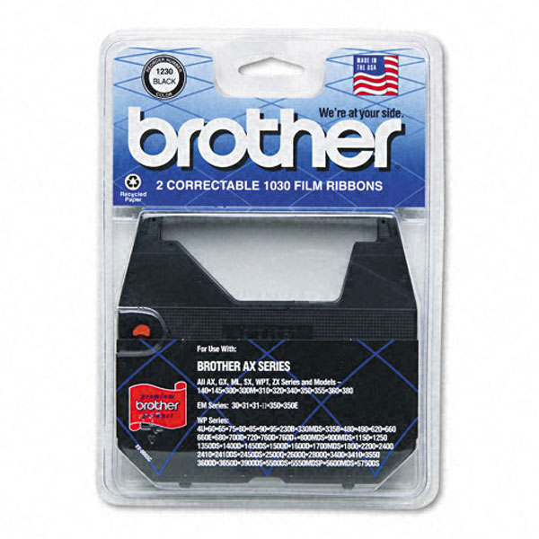Brother 1230 Black OEM Correctable Ribbon (2 pk)