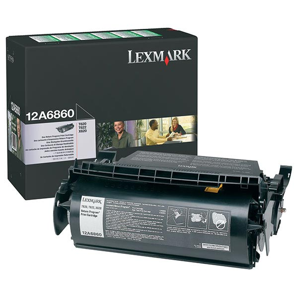 Lexmark 12A6860 Black OEM Print Cartridge
