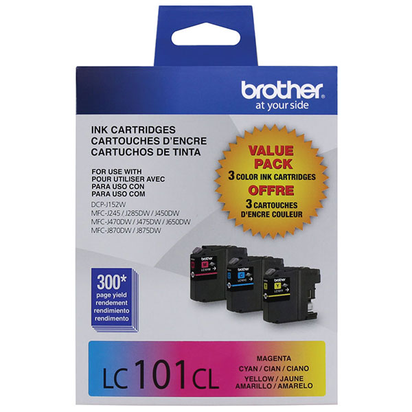 Brother LC-1013PKS Cyan/Magenta/Yellow OEM Ink Cartridge (Combo Pack)